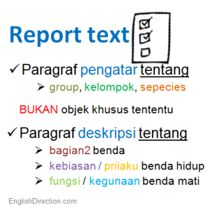 What is Report Text?